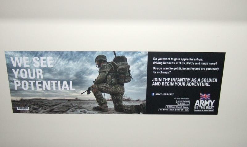 Army headliner bus advert