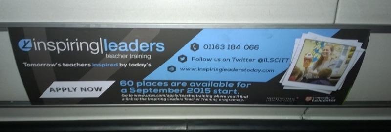 Teaching healiner bus advert