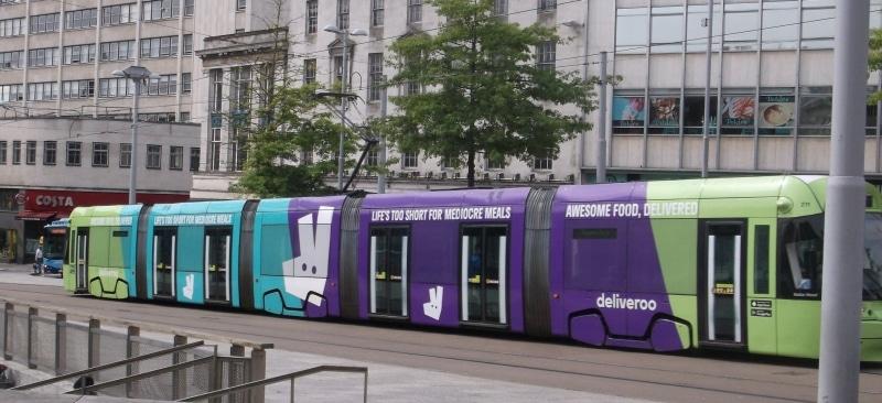 Deliveroo Tram Wrap NET June 17