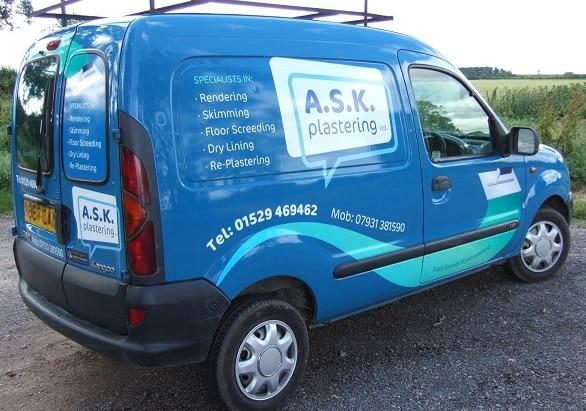 Ask Plastering Van Livery