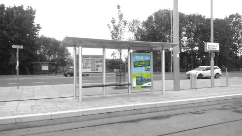 6-sheet tram stop advertising Nottingham