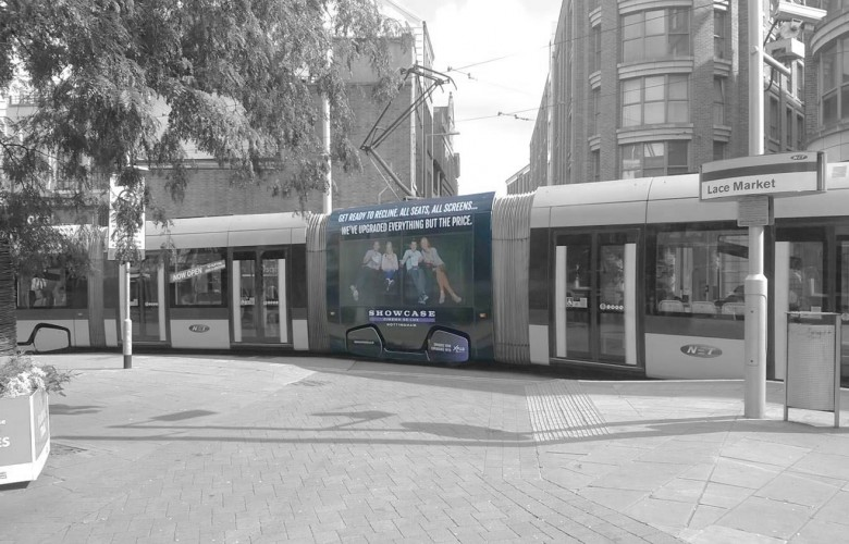 Tram Super Square Advertising Nottingham