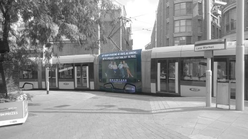 Tram Super Square Advertising Nottingham