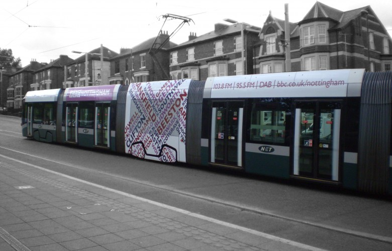 Tram T-Side Nottingham