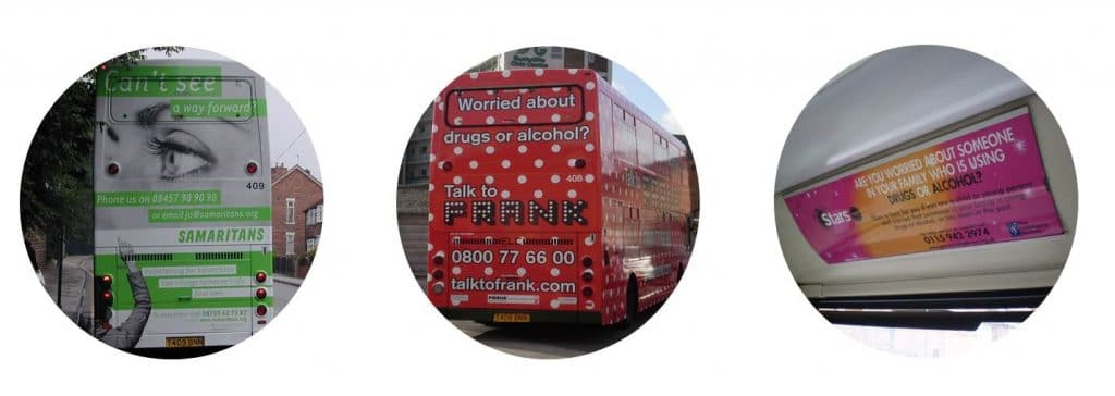 charity bus advertising