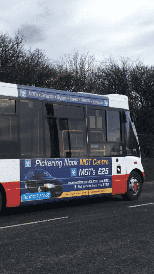 Bus advertising in the North East