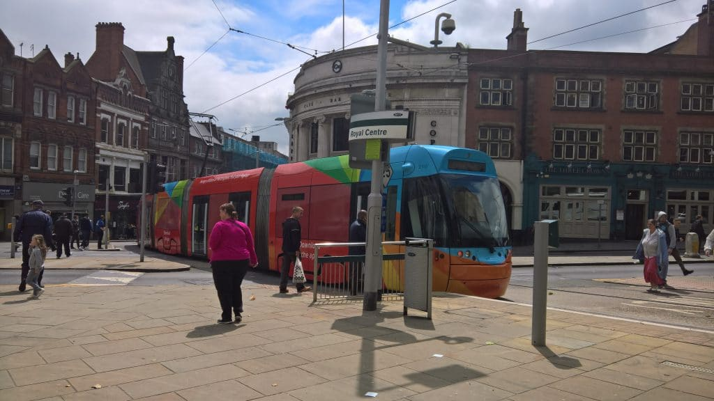 Nottingham tram advertising