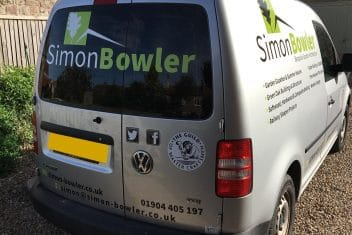 Van branding Yorkshire, van livery yorkshire, siimon bowler, van signage yorkshire