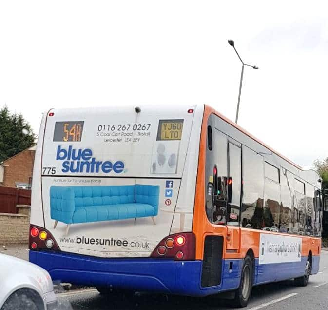 Outdoor Advertising in Leicester Blue Suntree