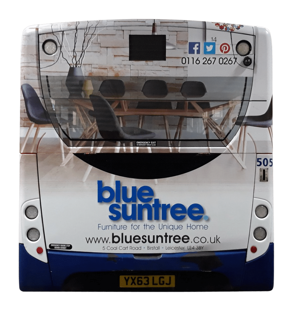Outdoor Advertising in Leicester - Blue Suntree
