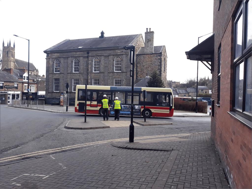 Bus Advert action shot