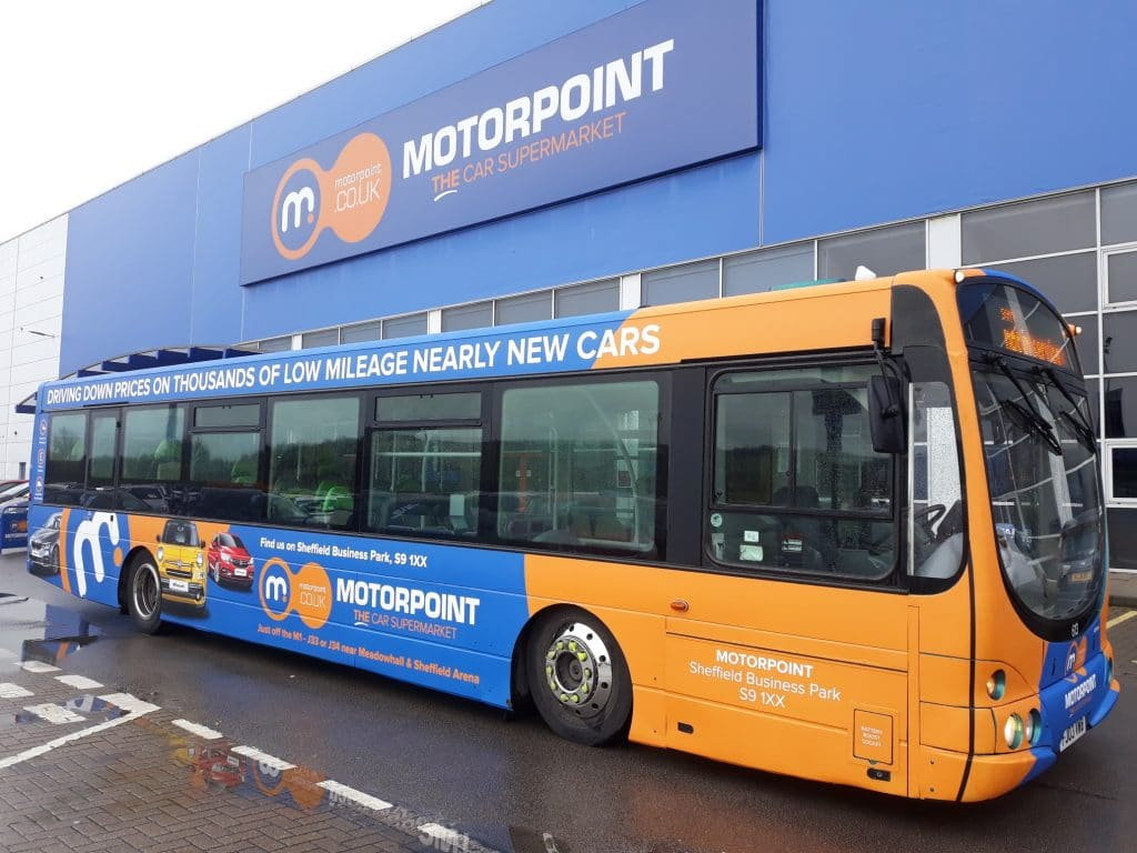 Motorpoint Sheffield South Yorkshire Bus Advertising